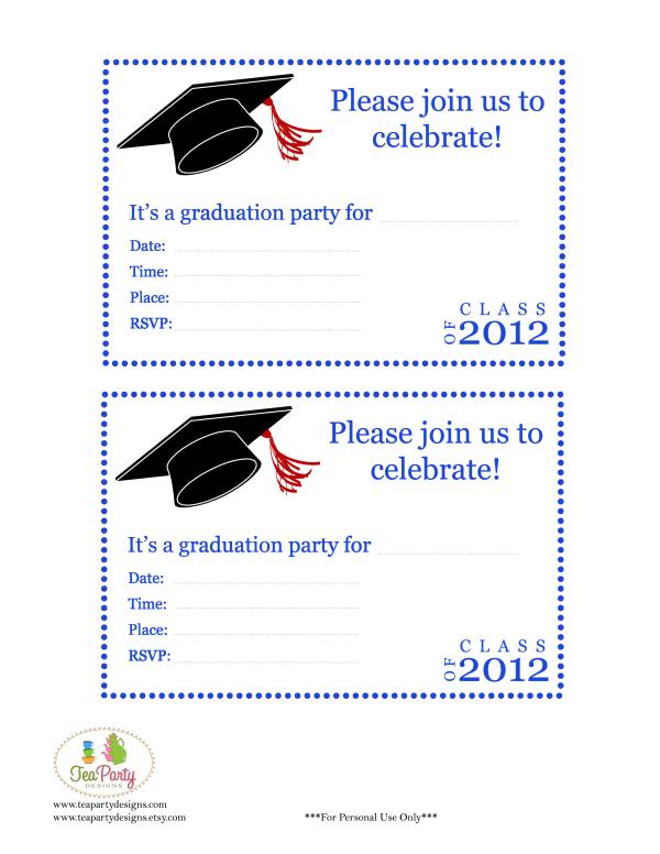Free Graduation Party Invitation Templates