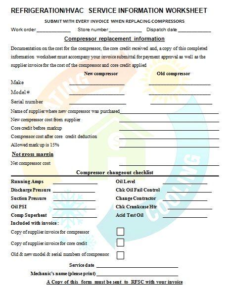 Free Printable Hvac Invoice Template