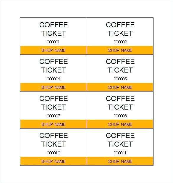 Free Printable Ticket Stub Template