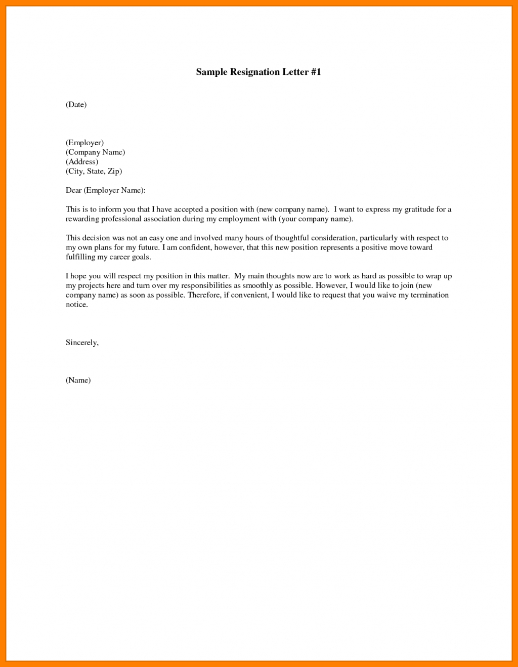 Resignation Letter In Ms Word Sarahepps