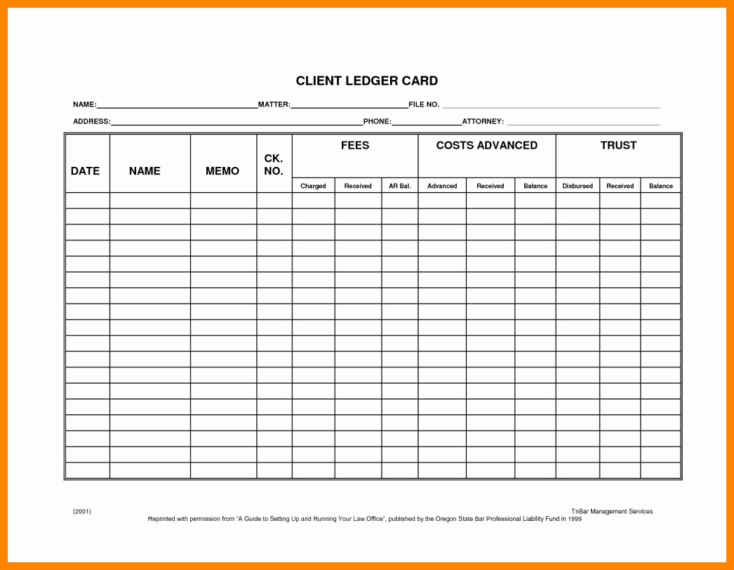 Awesome 6 Free Stock Ledger Template