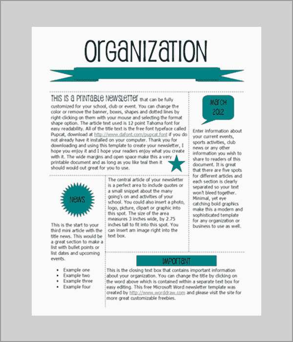 Free Teacher Newsletter Templates Microsoft Word Best Of Word Newsletter Template ? 31 Free Printable Microsoft