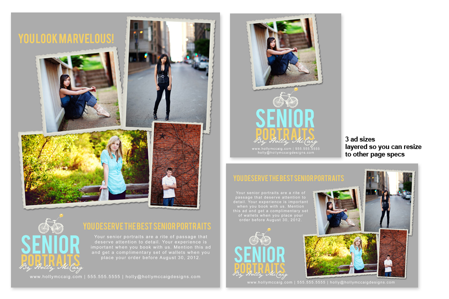 Free Yearbook Ad Templates