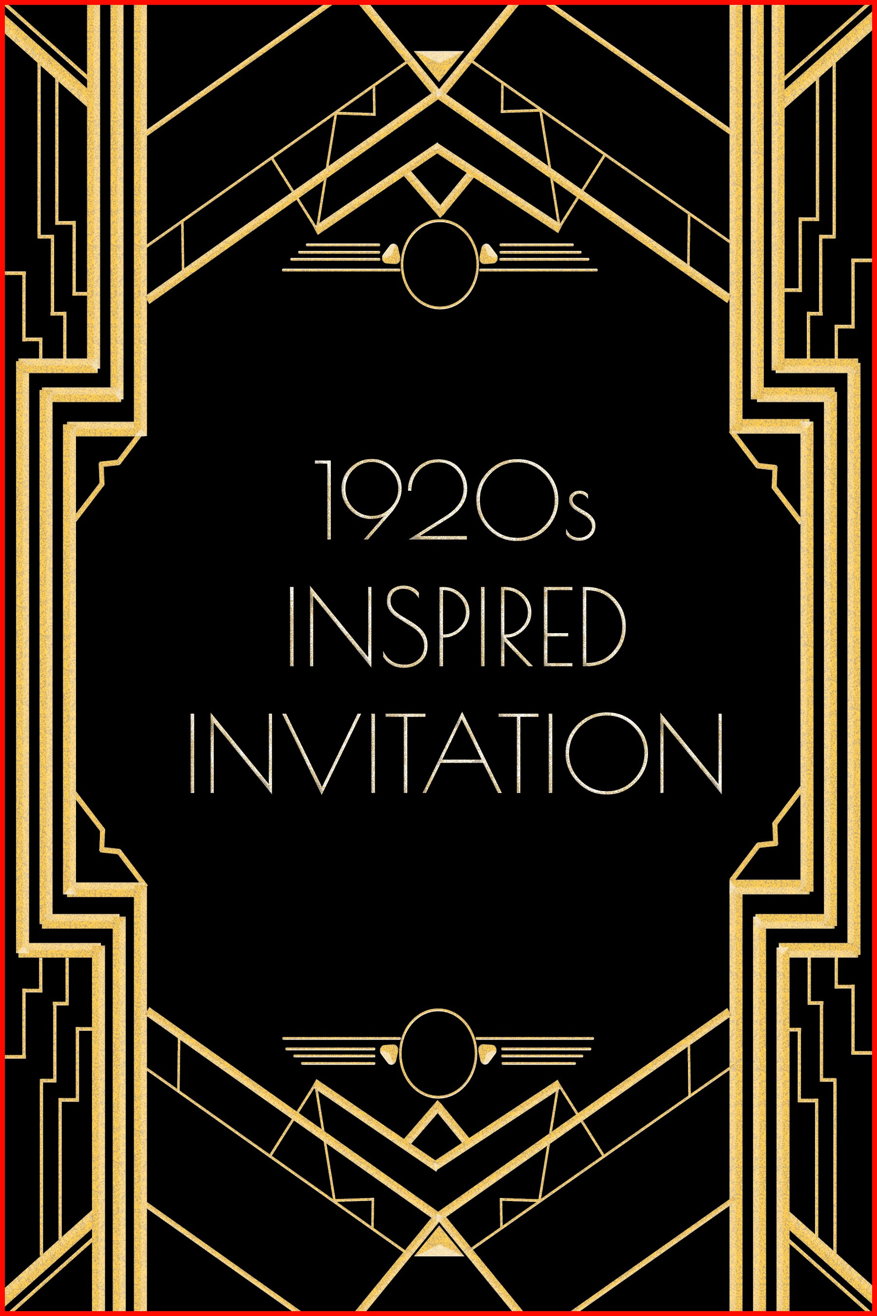 Great Gatsby Invitation Template Free Download 14960 20 S Years Cabaret Photos