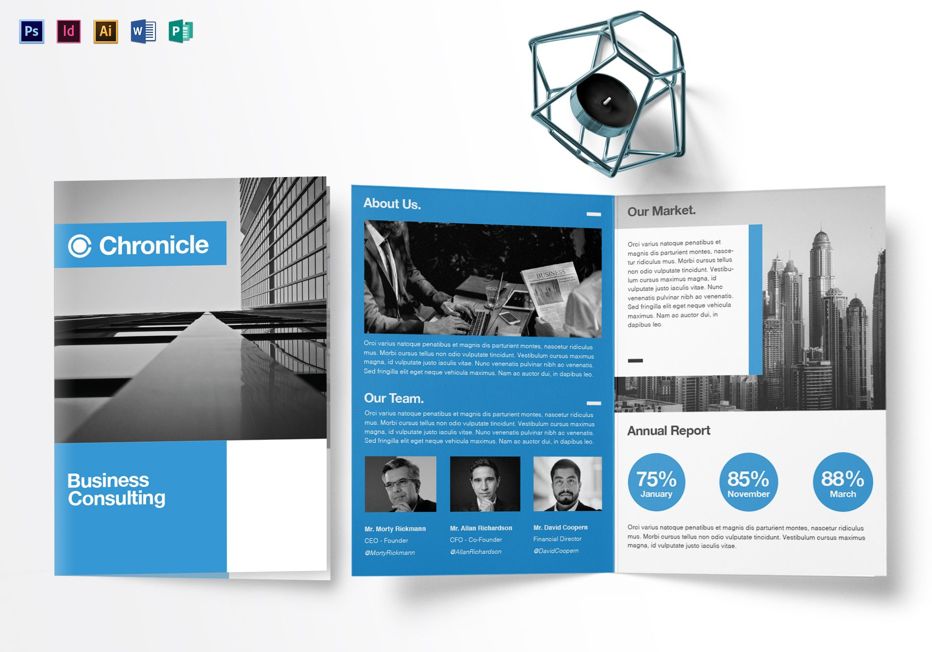 Half Fold Brochure Template Illustrator