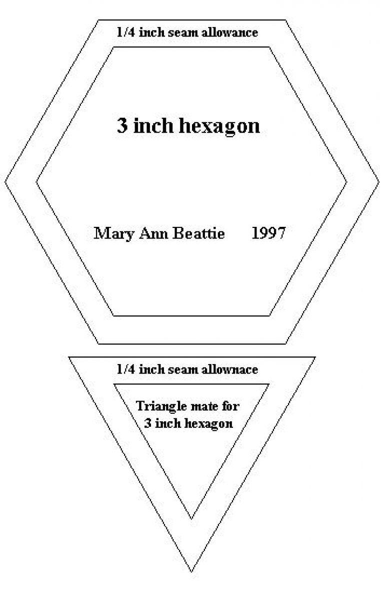 Hexagon Quilt Pattern Template