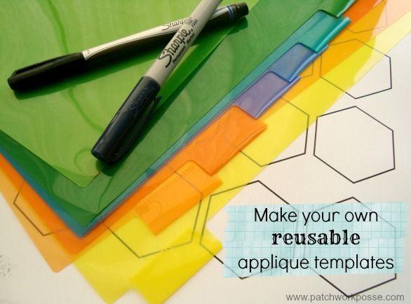Hexagon Quilt Template Plastic
