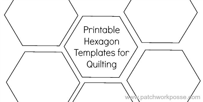 Hexagon Quilt Template Printable