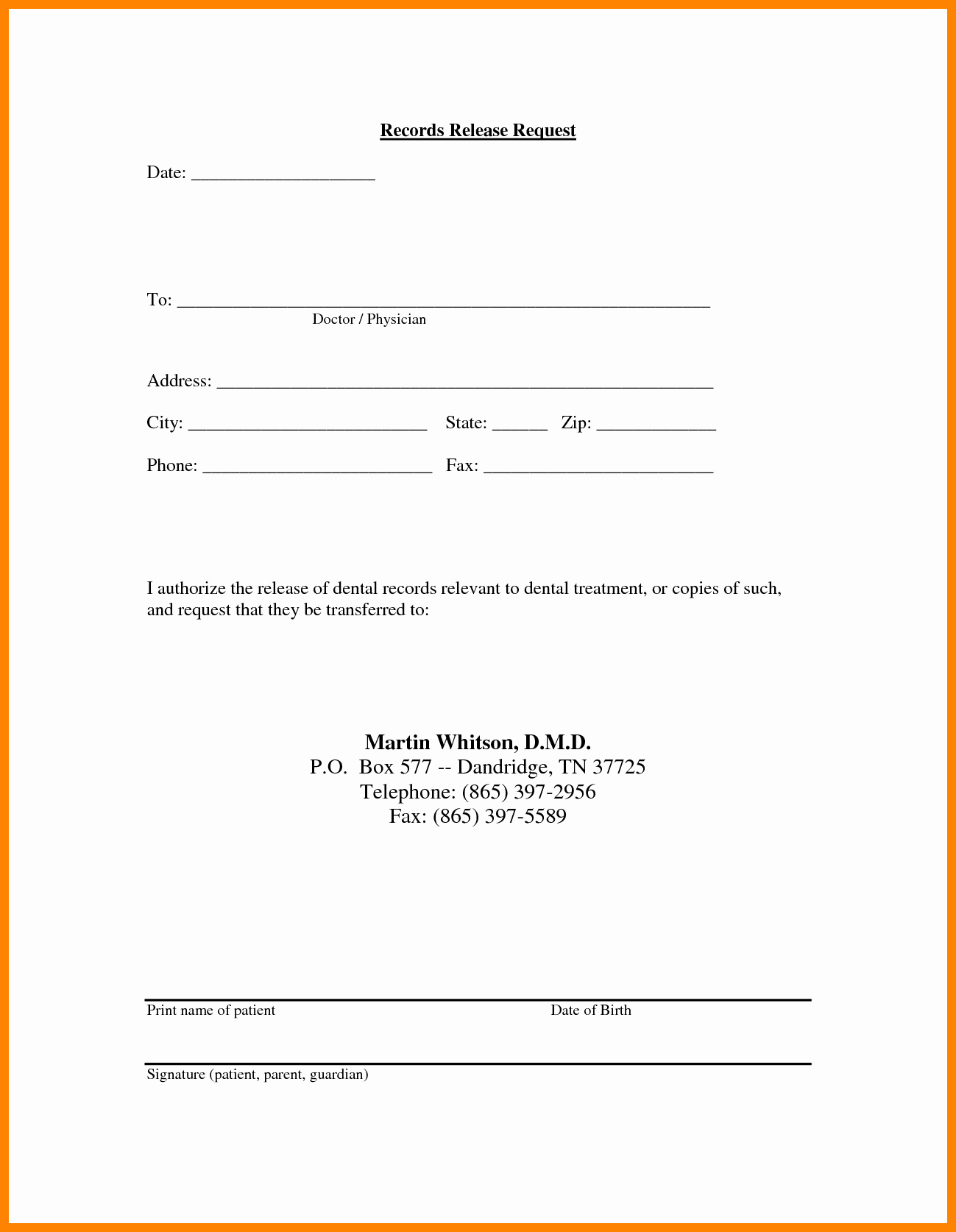 Hipaa Release Form Template Lovely Medical Records Release Forms
