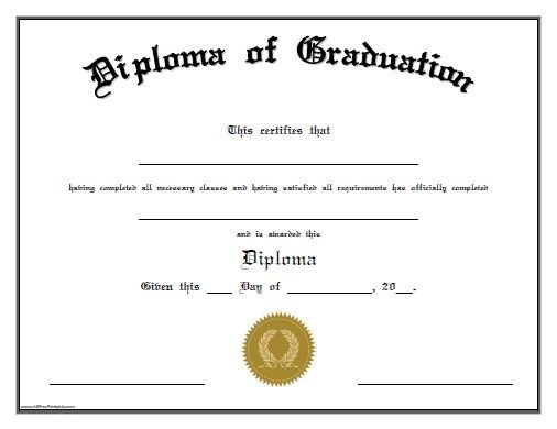 Homeschool High School Diploma Template