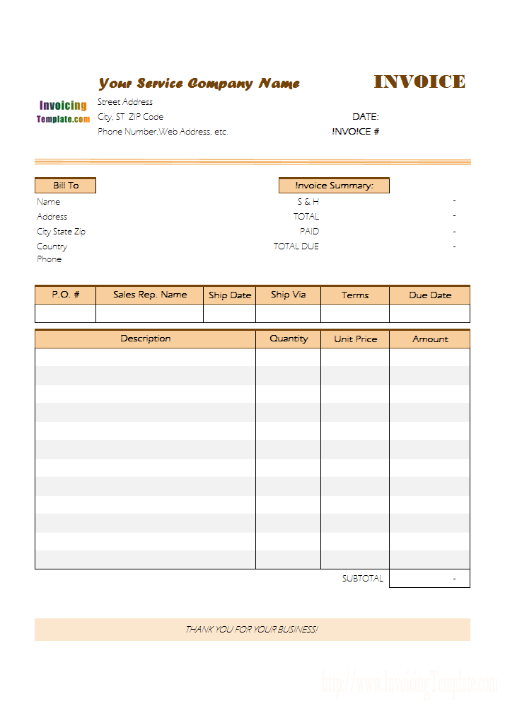 Invoice To Get Paid Template