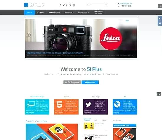 Joomla Responsive Template Quickstart Free Download