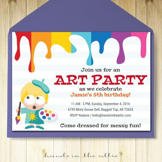 Kids Birthday Party Invite Template