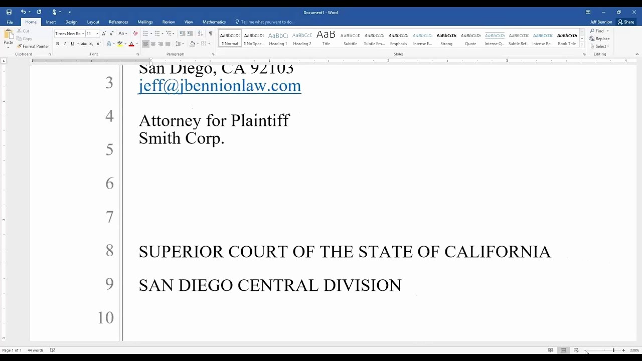 Legal Pleading Template Google Docs