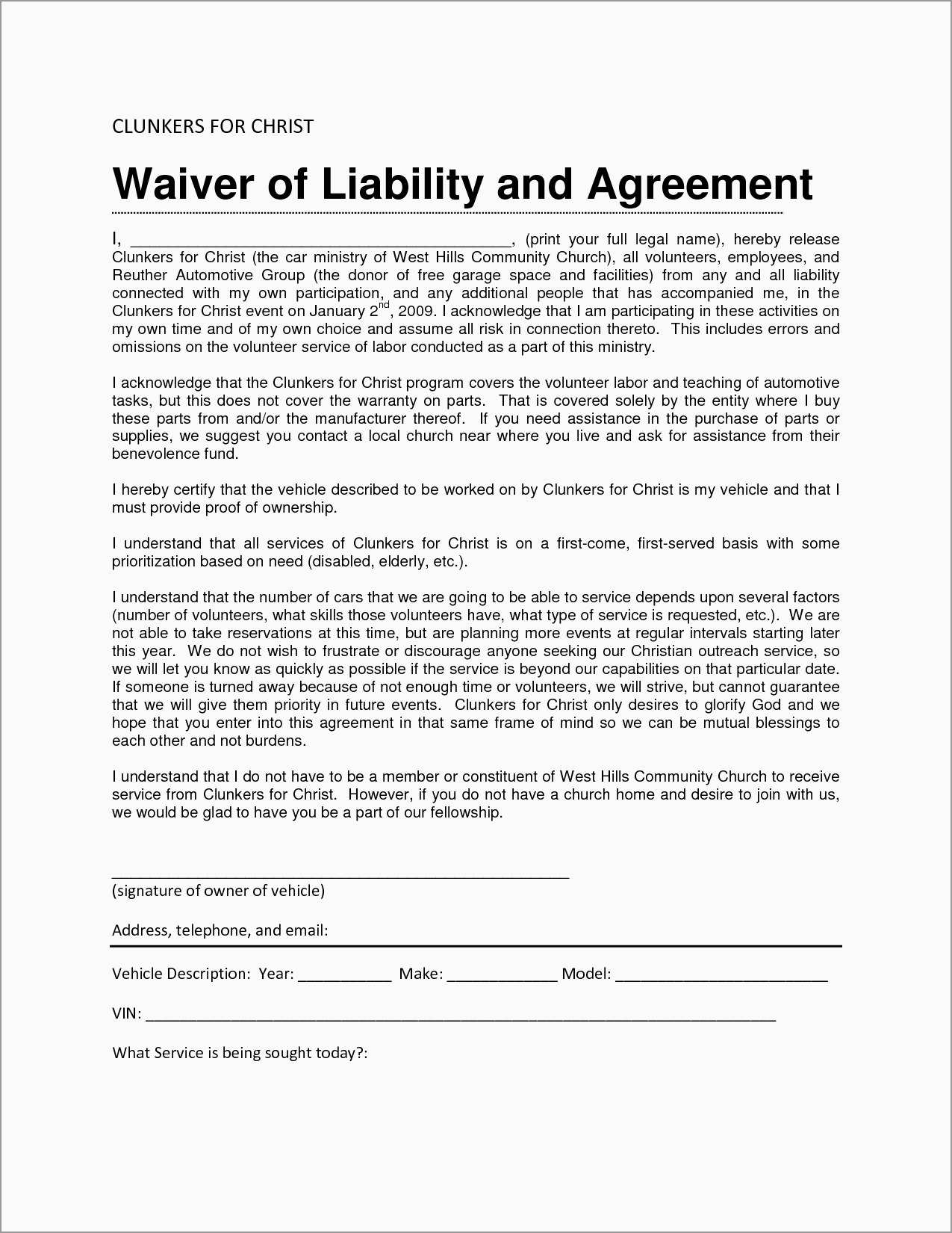 Free Liability Release Form Template Astonishing Liability Waiver Sample Bamboodownunder