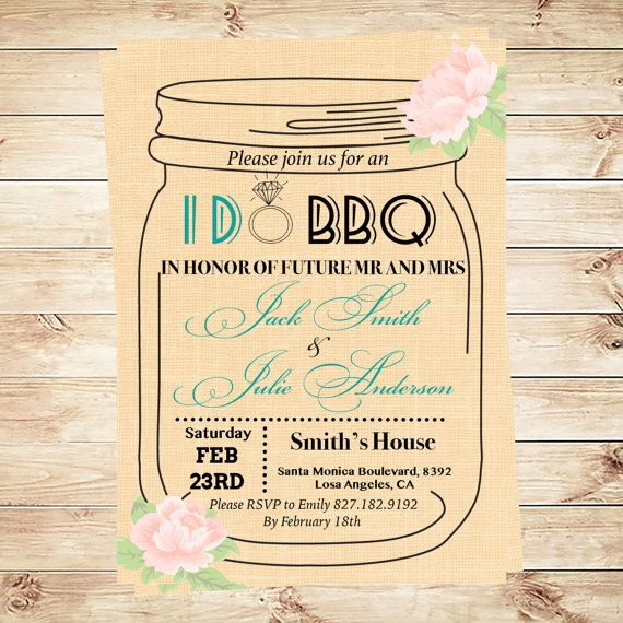 Mason Jar Invitation Template