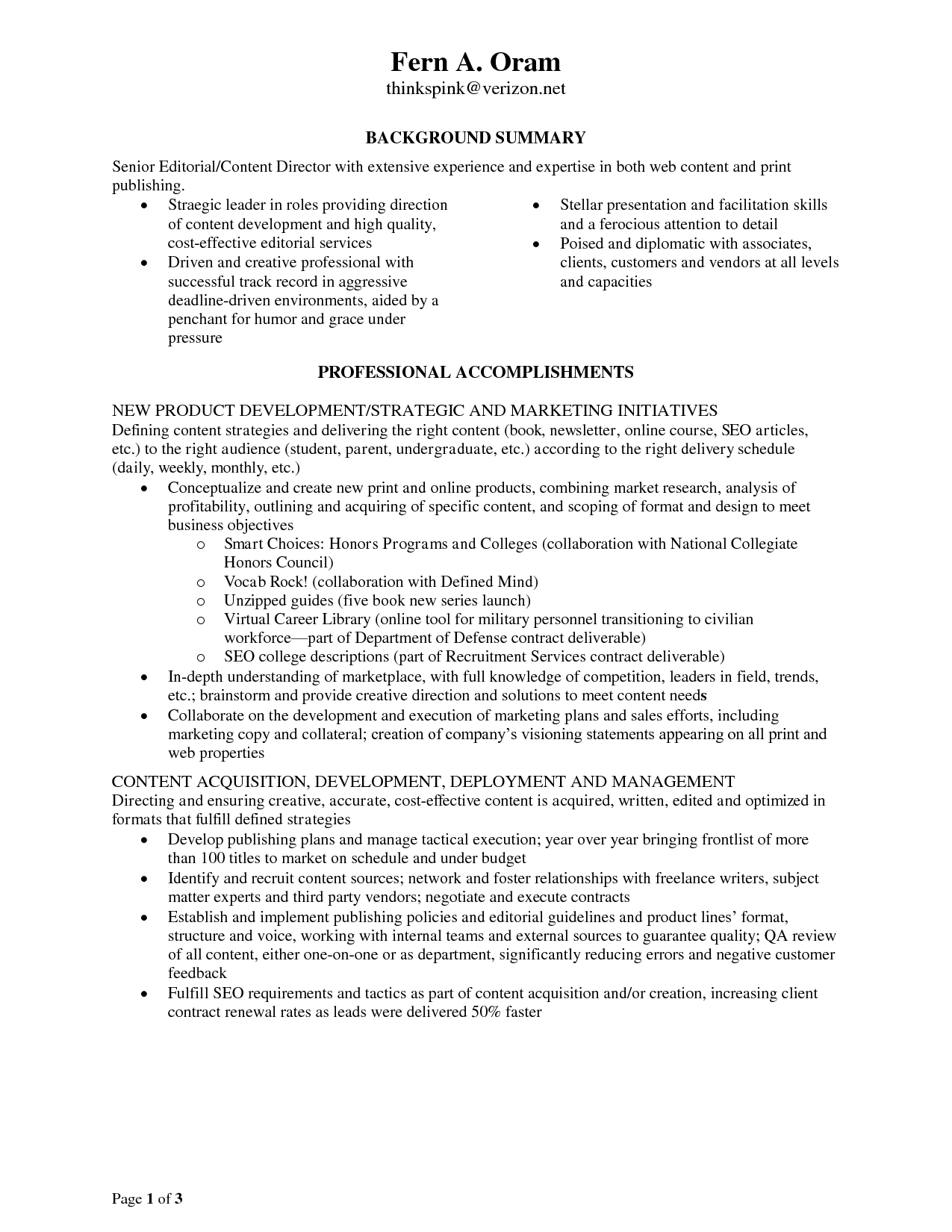 Monster Resume Templates Free