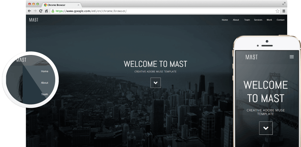 Muse Responsive Templates Free Download