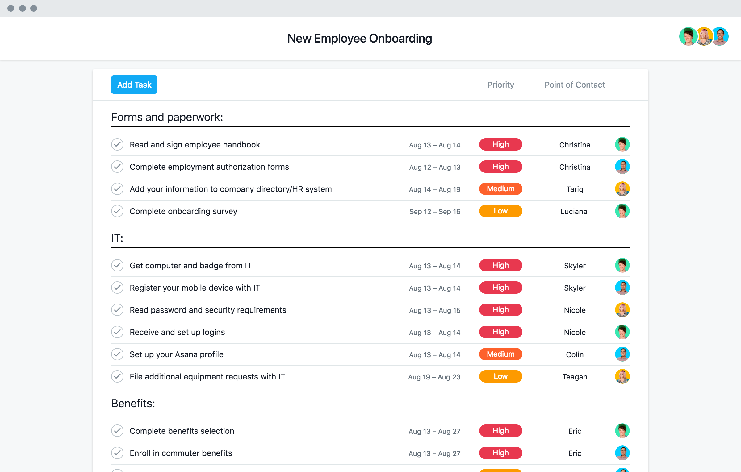 New Employee Onboarding Checklist Template