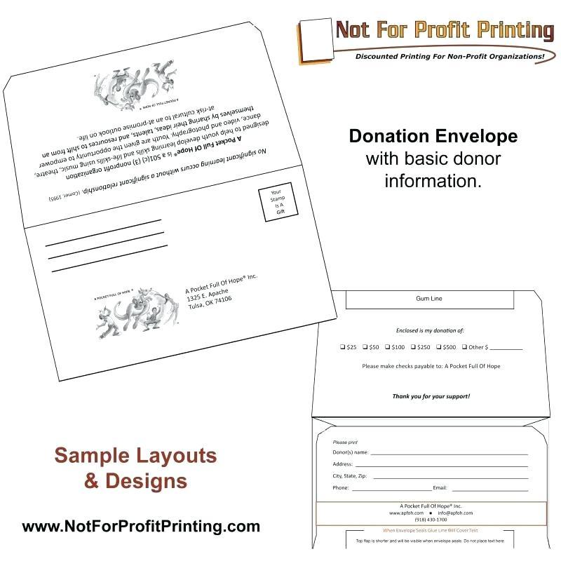Non Profit Donation Envelope Template