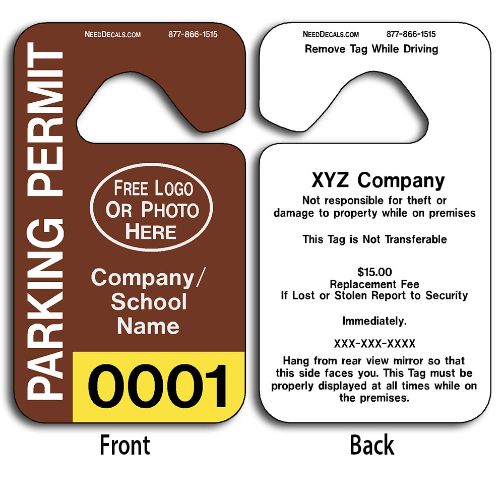 Parking Permit Template Free