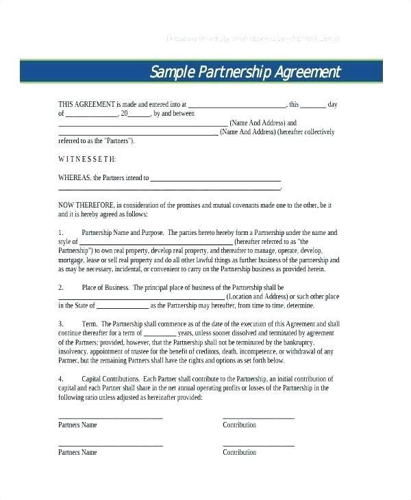 Partnership Contract Template Uk