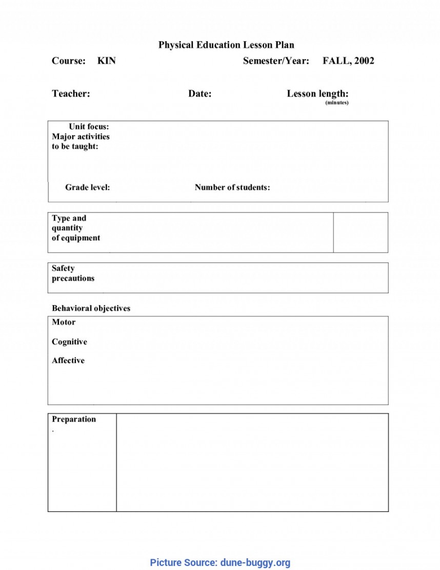 Pe Lesson Plan Template Pdf