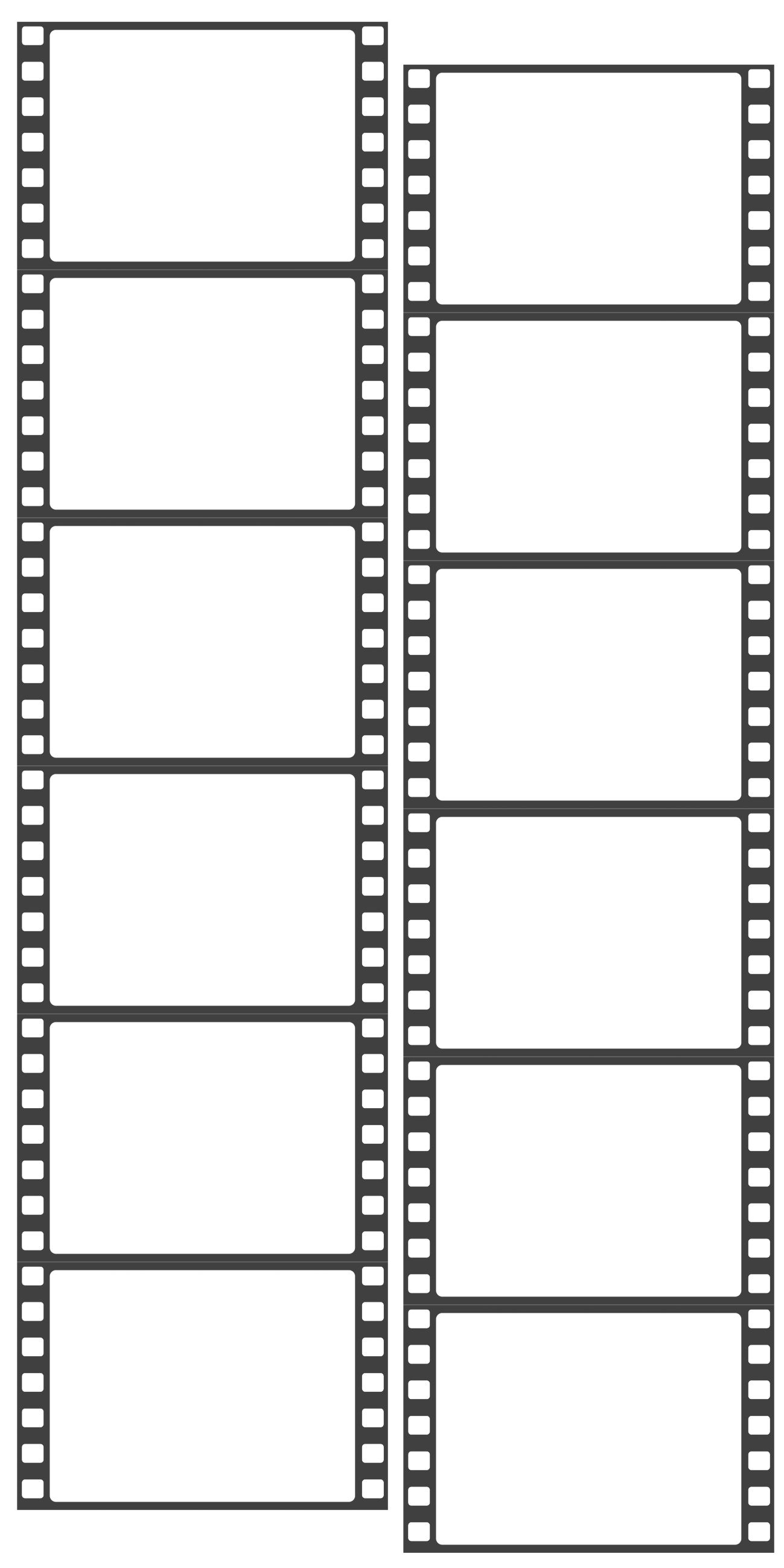 Photo Booth Film Strip Template