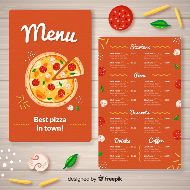 Pizza Menu Template Free Download