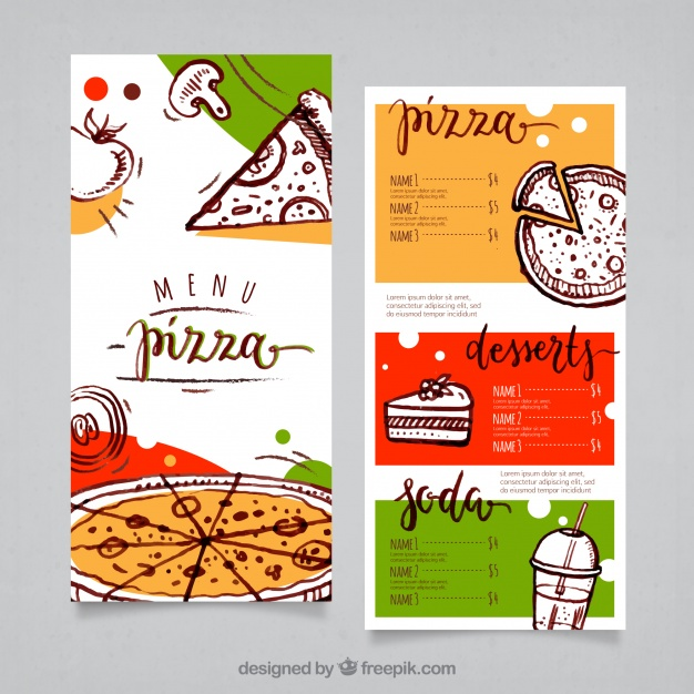 Pizza Menu Template Free