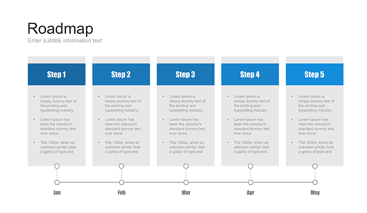 Powerpoint Roadmap Template Free Download