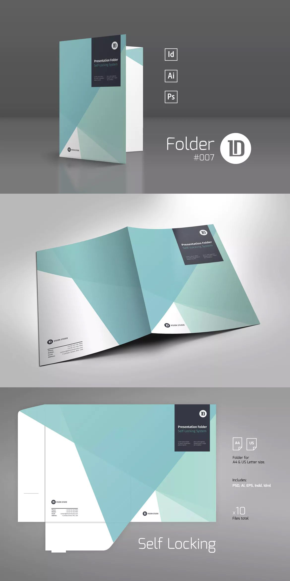 Presentation Folder Template Ai
