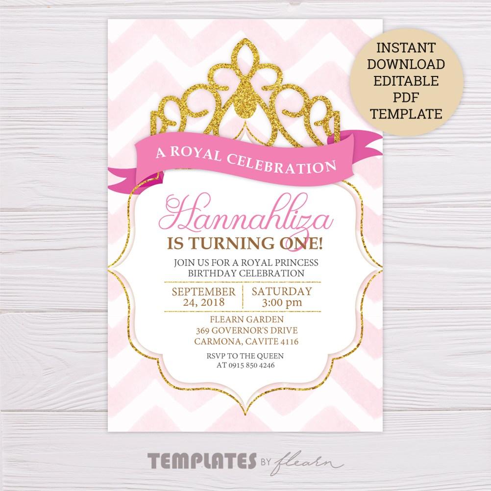 Princess Invitation Template