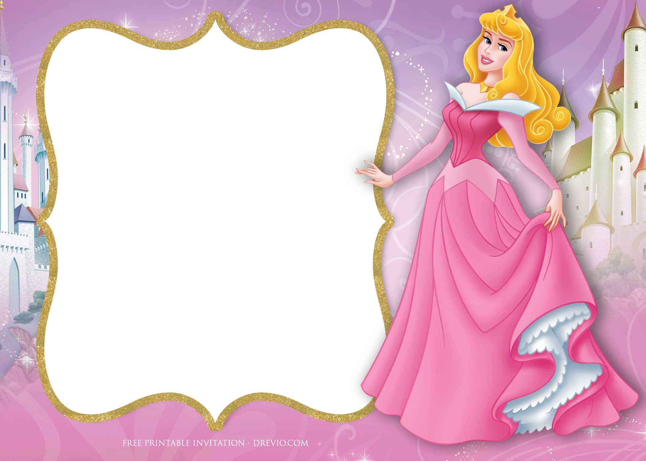 Princess Invitation Templates Free Download