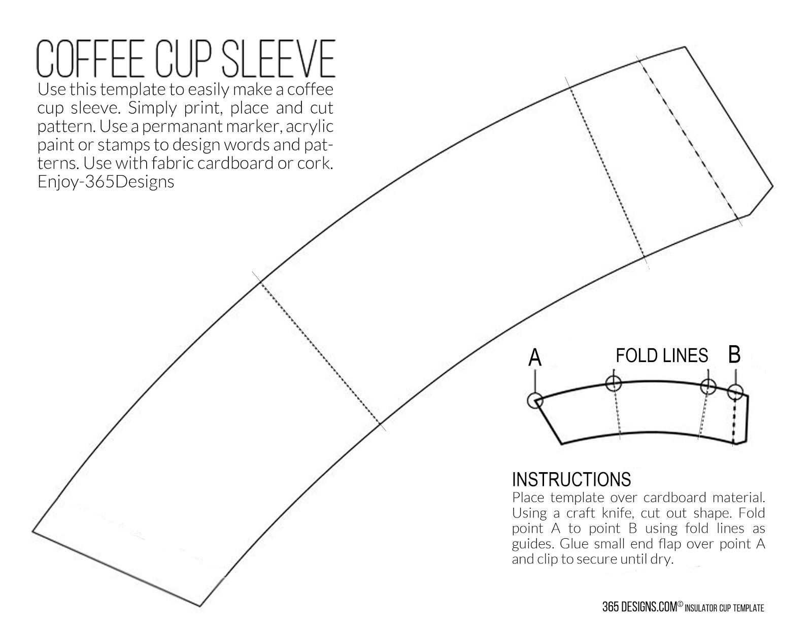 Printable Coffee Sleeve Template