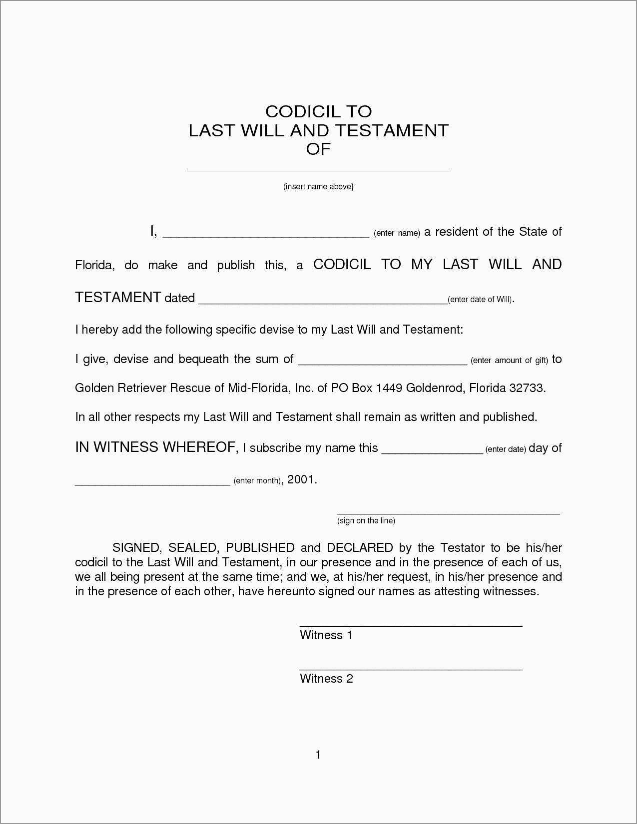 Best Free Last Will And Testament Template Pretty Free Printable Wills