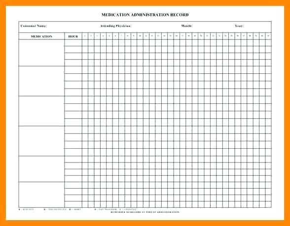 Printable Medication Administration Record Template Word
