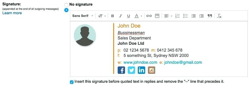 Professional Email Signature Templates Free Download
