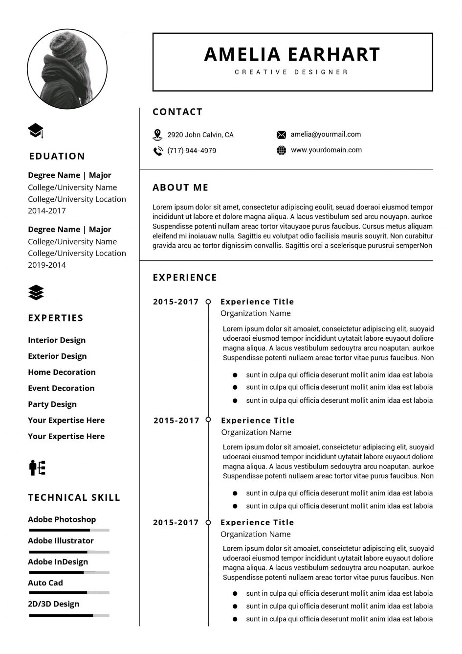 Professional Resume Template Word Document
