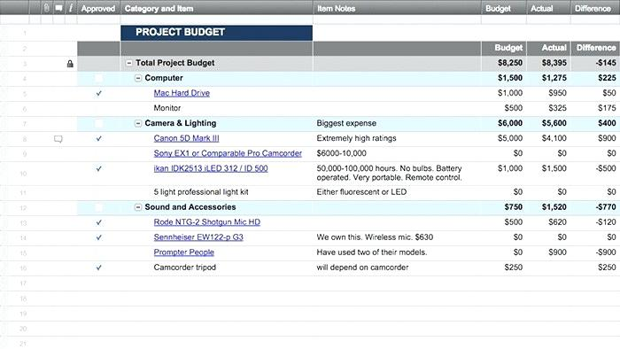 Project Finance Tracker Template Excel