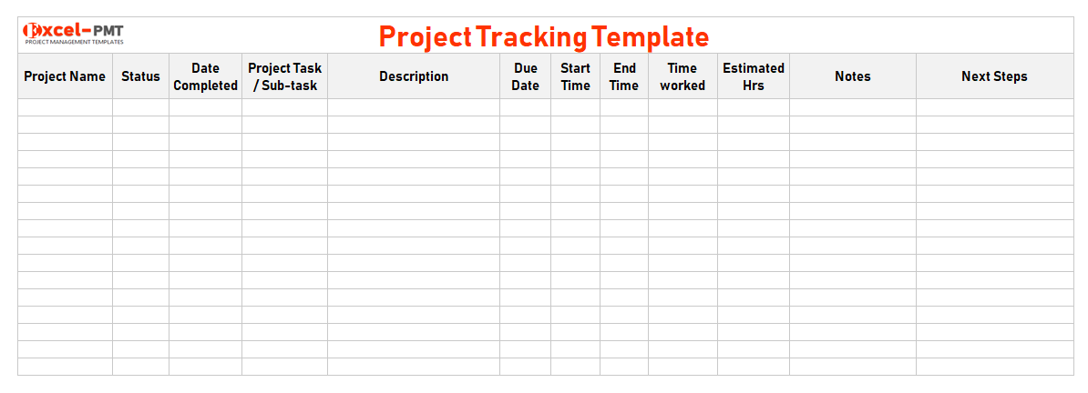 Project Tracker Template Excel Free