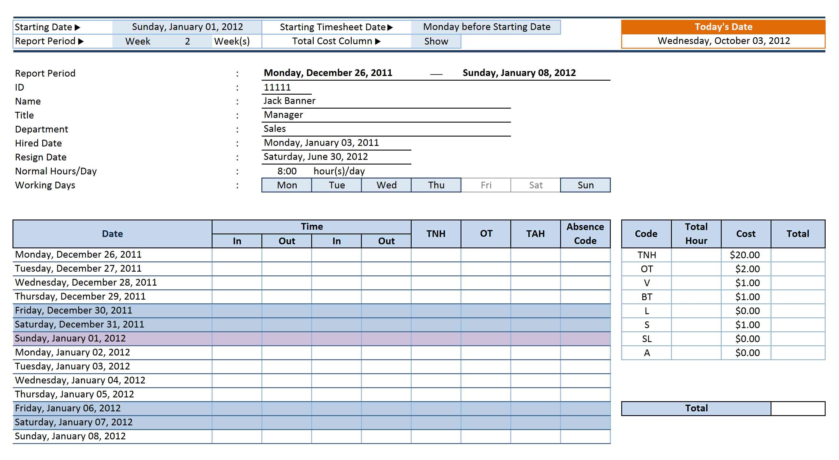Proposal Tracking Template Excel