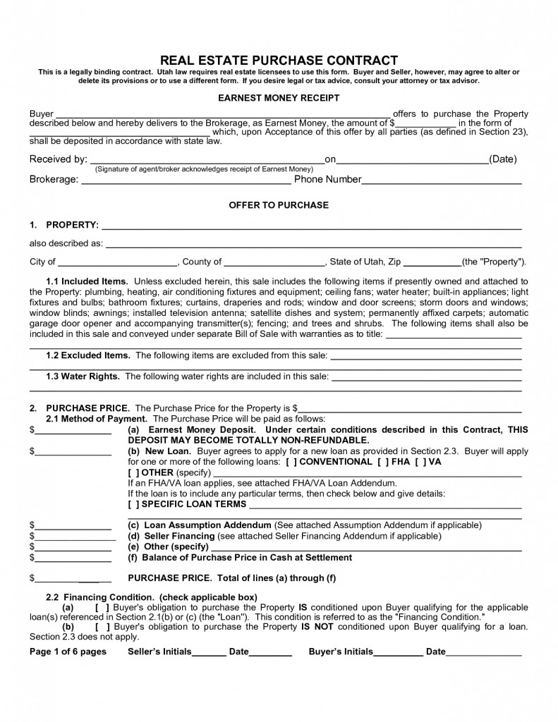 Real Estate Purchase Agreement Form Sample Image Gallery Imggrid