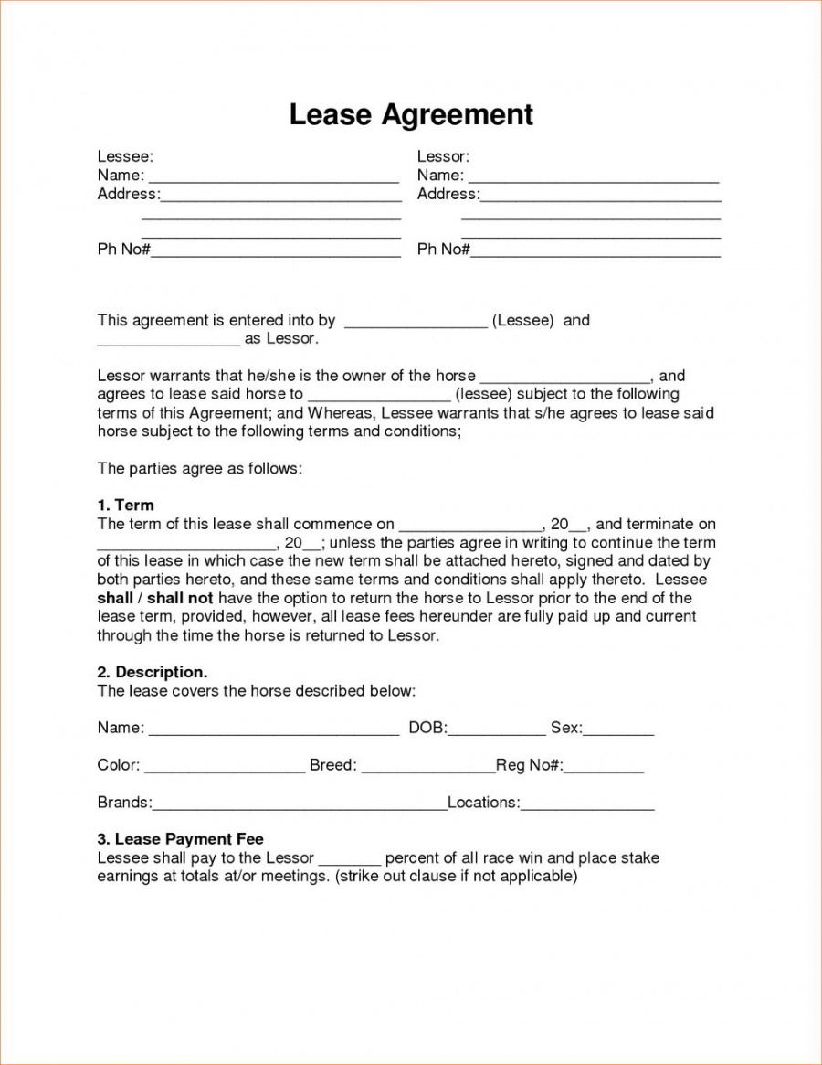 Printable 014 Rent To Own Agreement Template Alberta Imposing Ideas Forms Lease To Own Rental Agreement Template Example