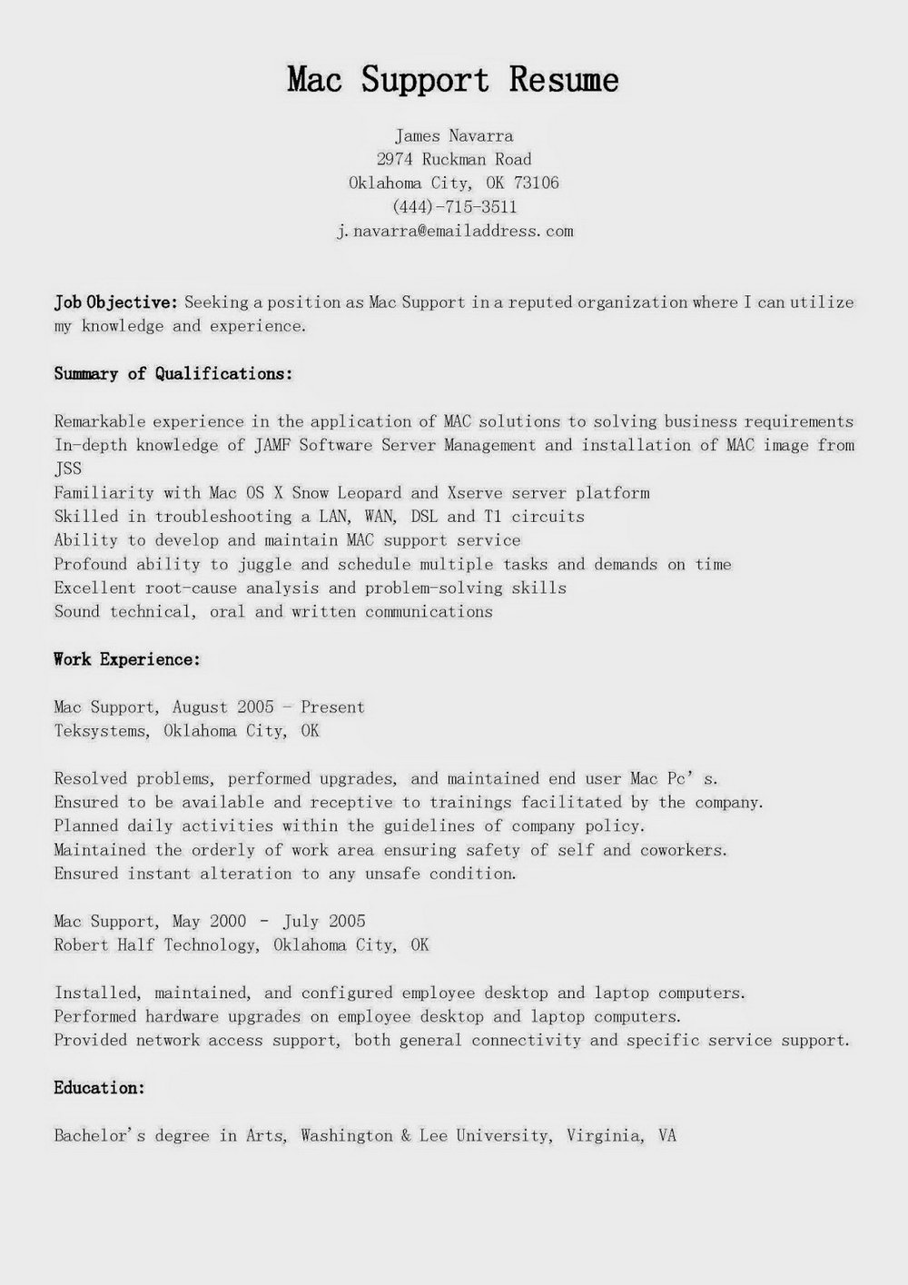 Resume Template For Macbook Pro
