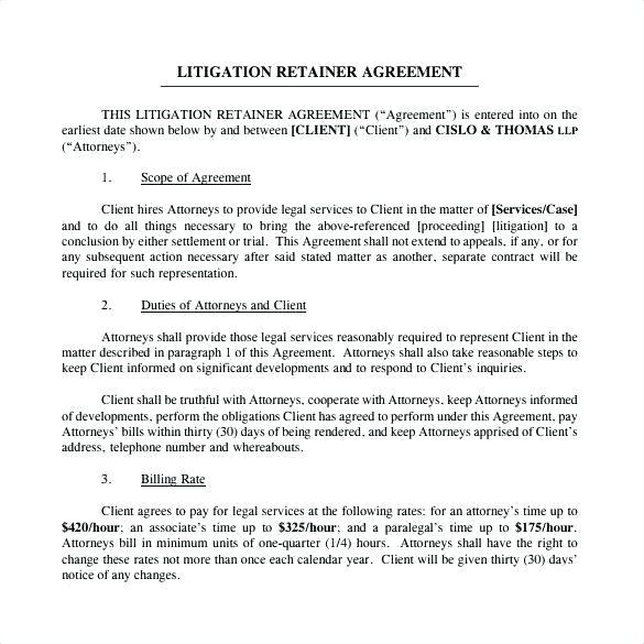 Retainer Agreement Template Australia