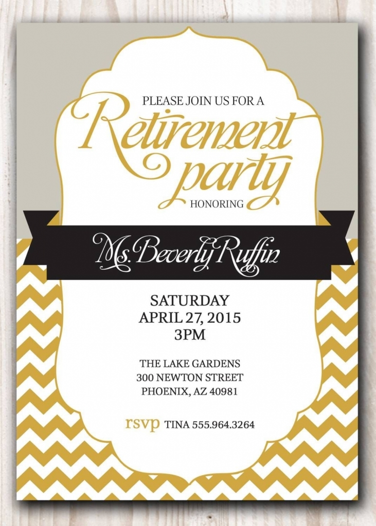 Retirement Party Invitation Template Microsoft | Crafts For Kids