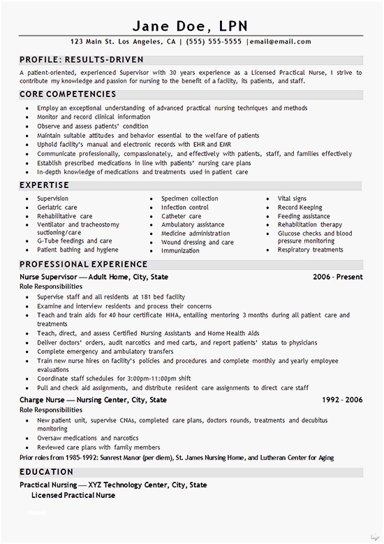 Rn Resume Templates Free Very Best Nurse Lpn Resume Example Sample