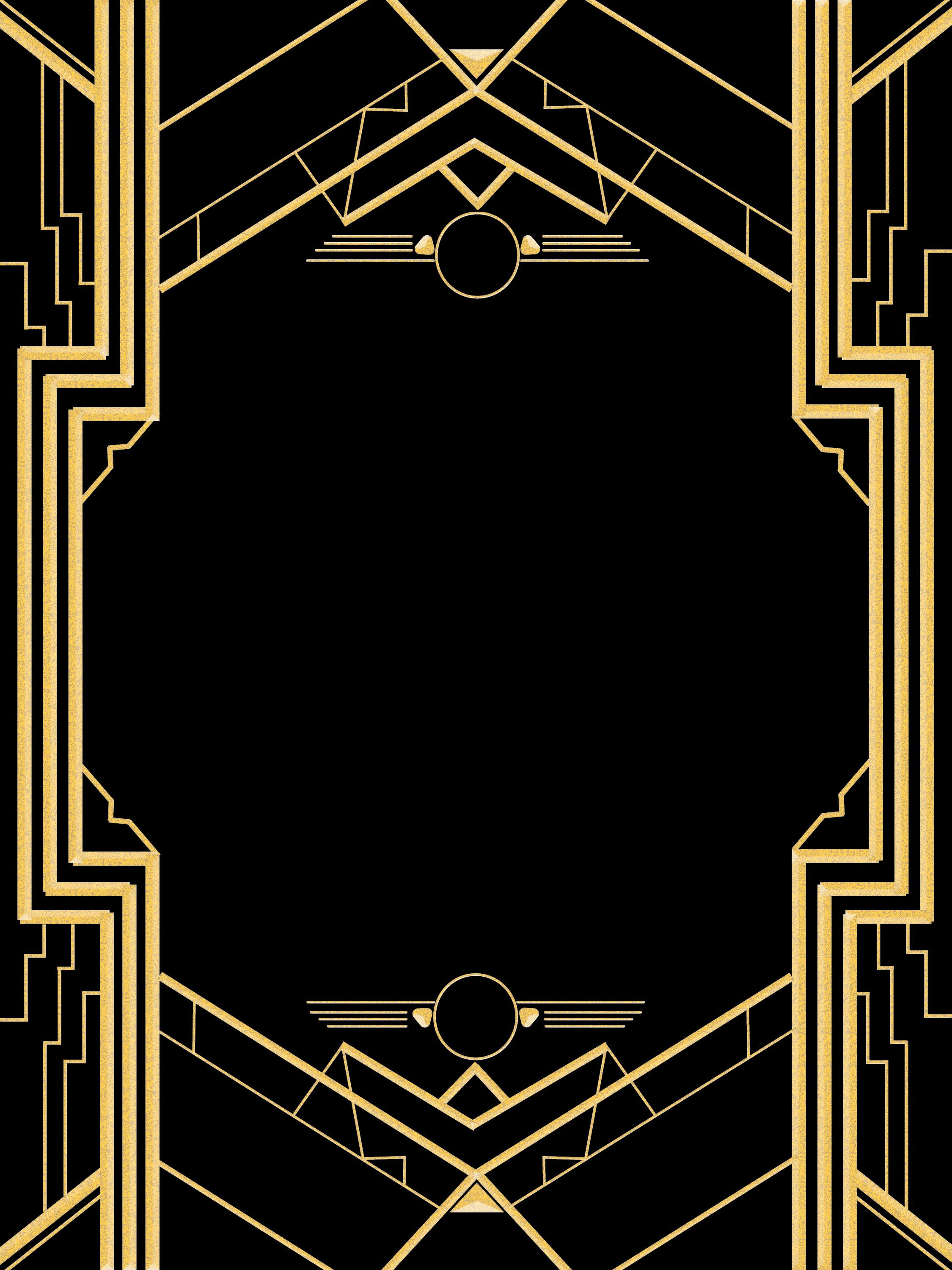 Roaring 20's Great Gatsby Invitation Template