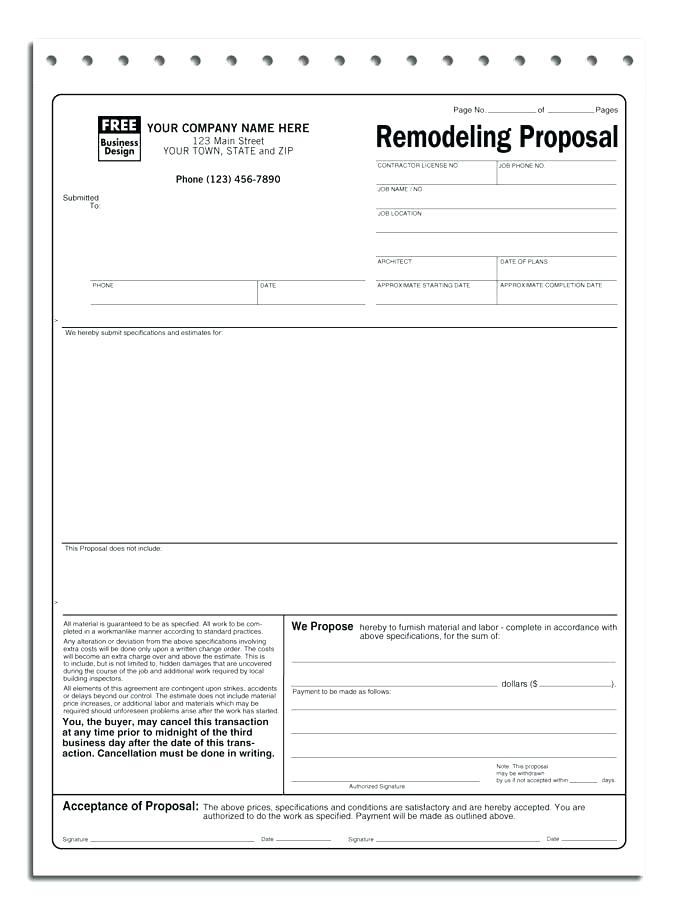 Roofing Contract Template Doc